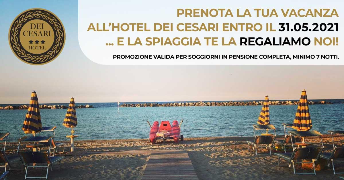 Hotel Dei Cesari - Igea Marina di Rimini - promo spiaggia gratis