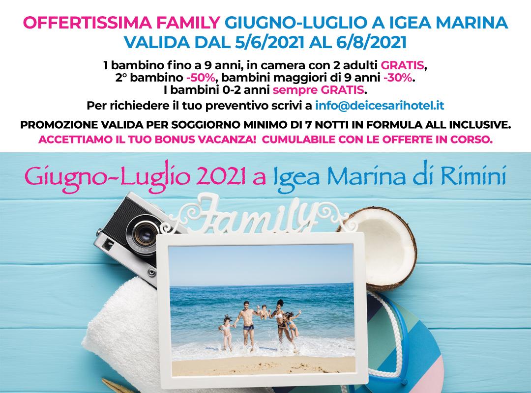 Hotel Dei Cesari - Igea Marina di Rimini - promo Family giugno luglio